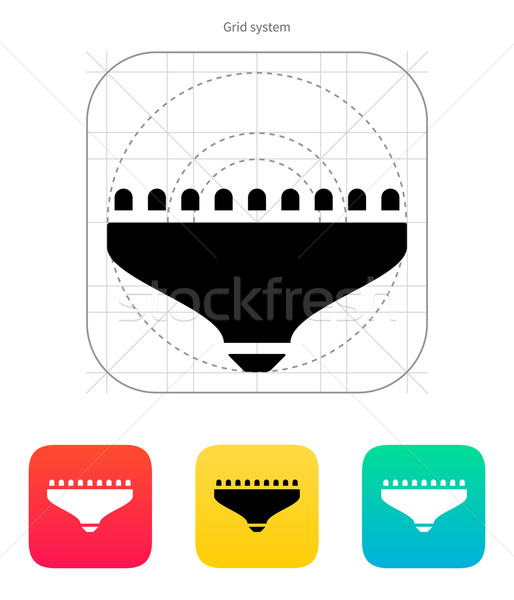 LED lamp icon. Vector illustration. Stock photo © tkacchuk