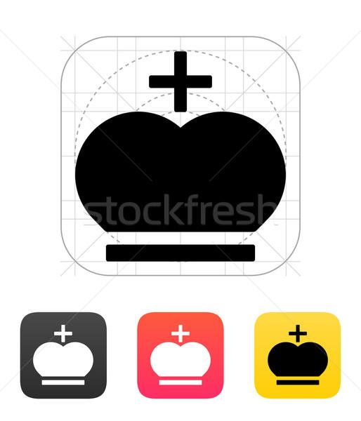 Korona pápa ikonok terv háttér erő Stock fotó © tkacchuk