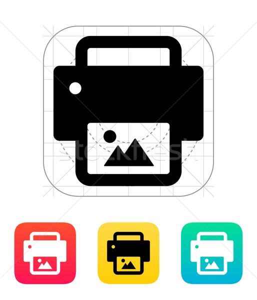 Photo print icon. Stock photo © tkacchuk