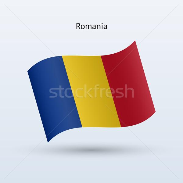 Rumunia banderą formularza szary podpisania Zdjęcia stock © tkacchuk