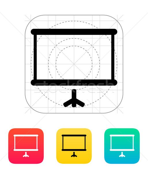 Proyector Screen icono negocios pared diseno Foto stock © tkacchuk