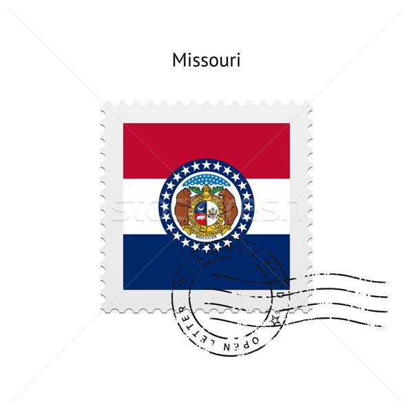 Миссури флаг почтовая марка белый знак письме Сток-фото © tkacchuk