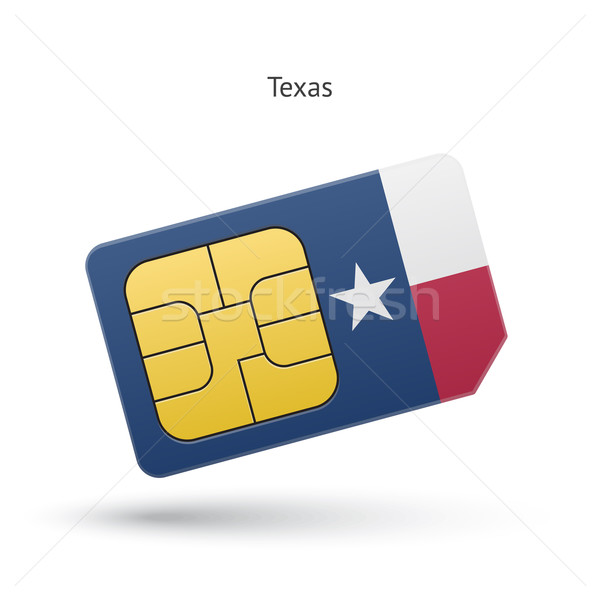 Texas teléfono tarjeta bandera negocios tecnología Foto stock © tkacchuk
