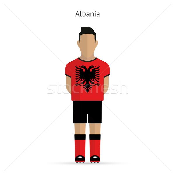 Albania football player. Soccer uniform. Stock photo © tkacchuk