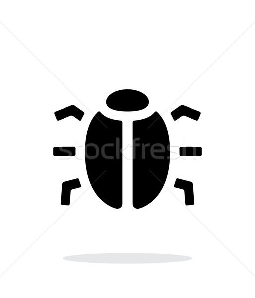 Spy bug icon on white background. Stock photo © tkacchuk