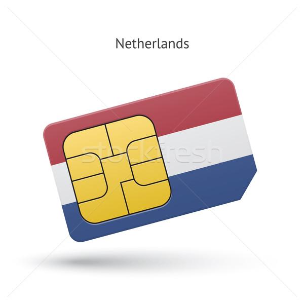 Pays-Bas téléphone portable carte pavillon affaires design Photo stock © tkacchuk