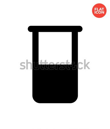Broken test tube simple icon on white background. Stock photo © tkacchuk