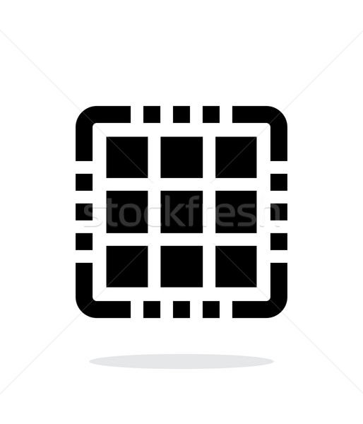 Multi Core CPU simple icon on white background. Stock photo © tkacchuk