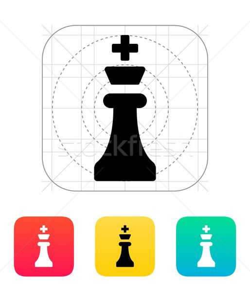 Rey del ajedrez icono ajedrez negro jugar bordo Foto stock © tkacchuk
