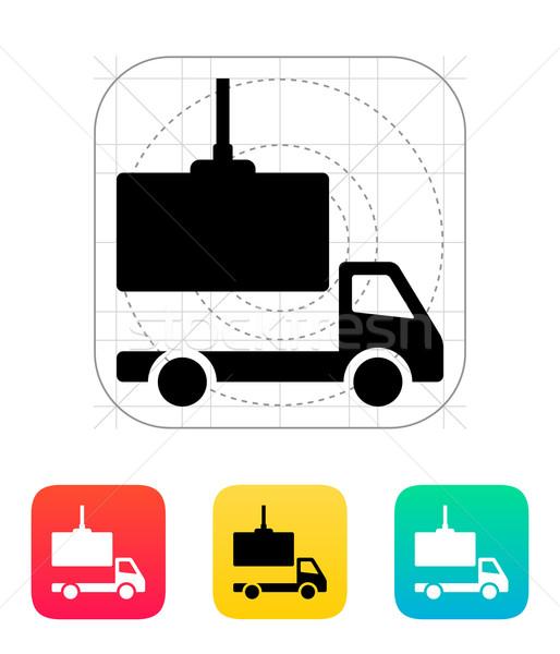 Truck loading icon. Stock photo © tkacchuk