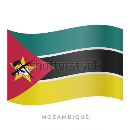 Zdjęcia stock: Banderą · Mozambik · skorygowania · kolory · edukacji