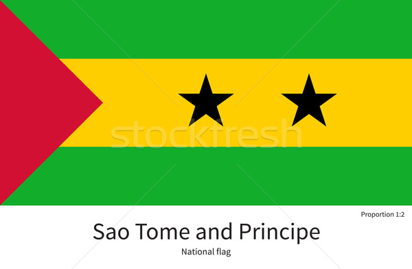 National flag of Sao Tome and Principe with correct proportions, element, colors Stock photo © tkacchuk