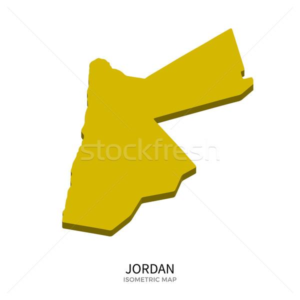 Isometrische kaart Jordanië gedetailleerd geïsoleerd 3D Stockfoto © tkacchuk
