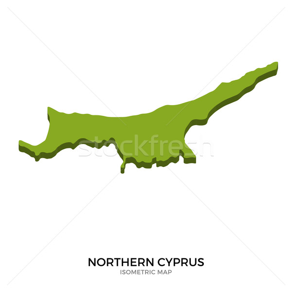Isometric map of Northern Cyprus detailed vector illustration Stock photo © tkacchuk