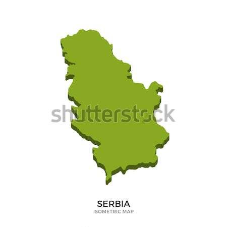 Isométrica mapa Sérvia detalhado isolado 3D Foto stock © tkacchuk