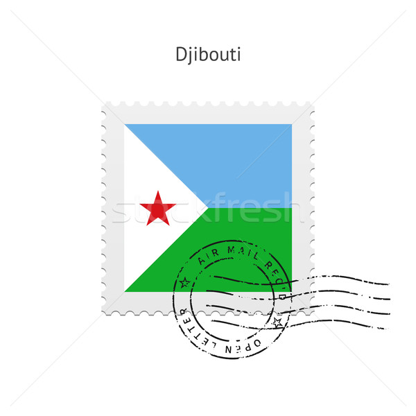 Djibouti Flag Postage Stamp. Stock photo © tkacchuk