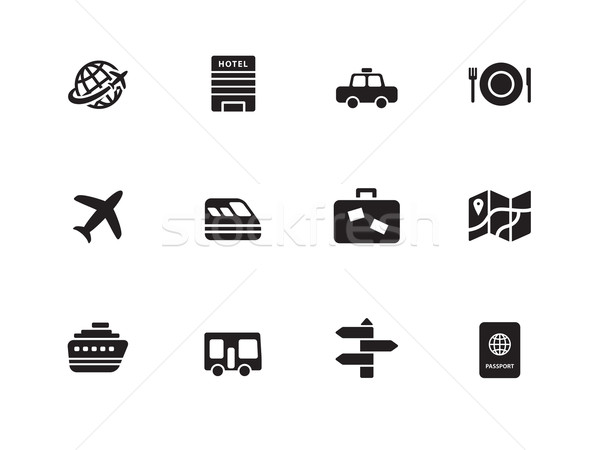 Travel  icons on white background. Stock photo © tkacchuk