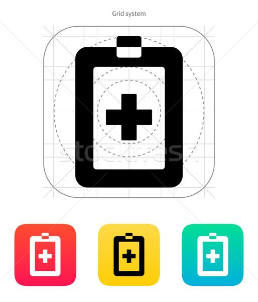 Paciente cartão ícone branco saúde cuidar Foto stock © tkacchuk