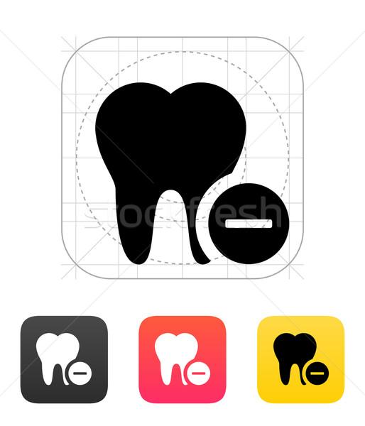 Remove tooth icon. Stock photo © tkacchuk