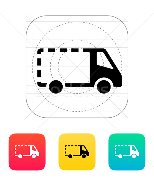 Lege levering minibus icon auto vrachtwagen Stockfoto © tkacchuk