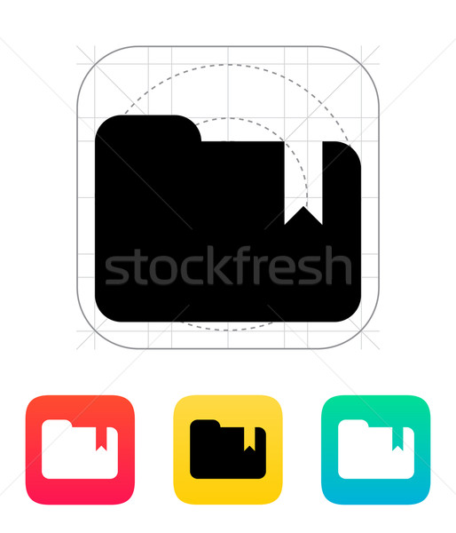 Folder bookmark icon. Stock photo © tkacchuk