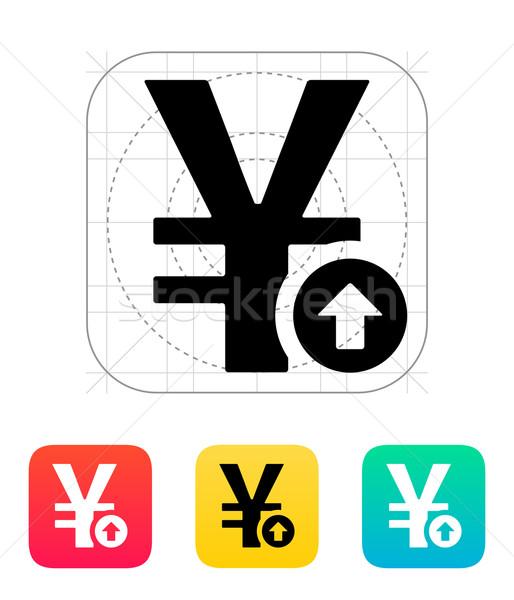 Chinese yuan exchange rate up icon. Stock photo © tkacchuk