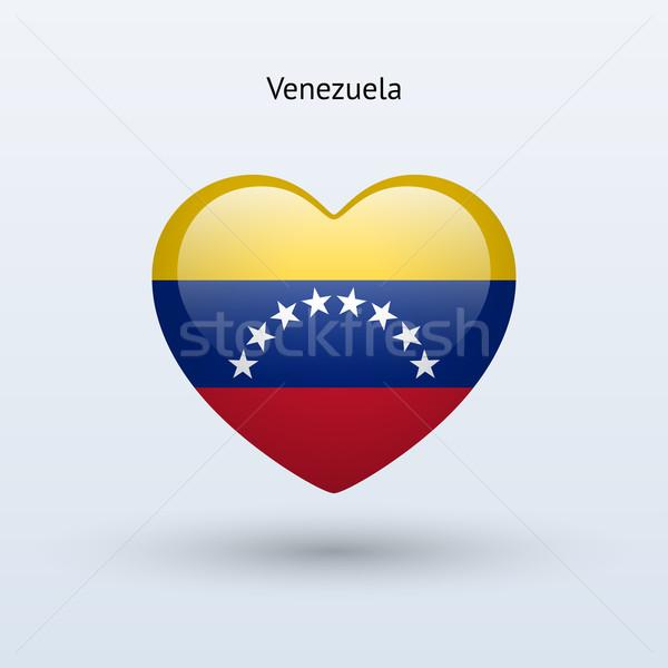 Amor Venezuela símbolo coração bandeira ícone Foto stock © tkacchuk