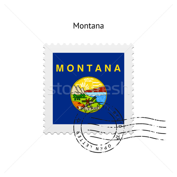 State of Montana flag postage stamp. Stock photo © tkacchuk
