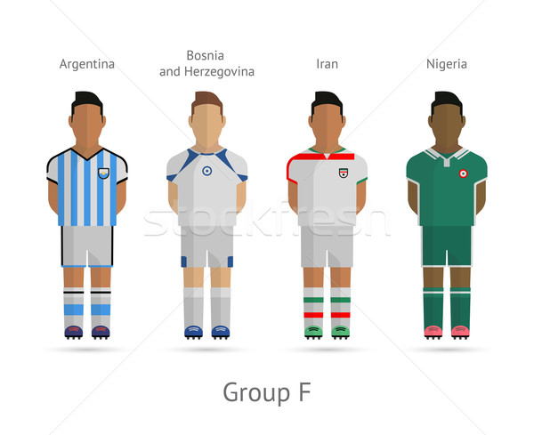 Stock photo: Football teams. Group F - Argentina, Bosnia and Herzegovina, Iran, Nigeria.