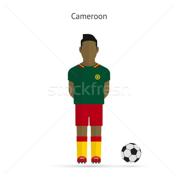 Voetballer Kameroen voetbal team uniform man Stockfoto © tkacchuk