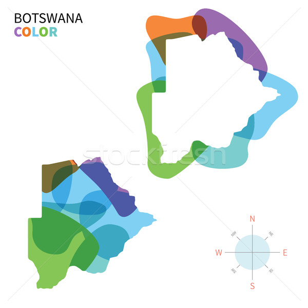 Résumé vecteur couleur carte Botswana transparent Photo stock © tkacchuk