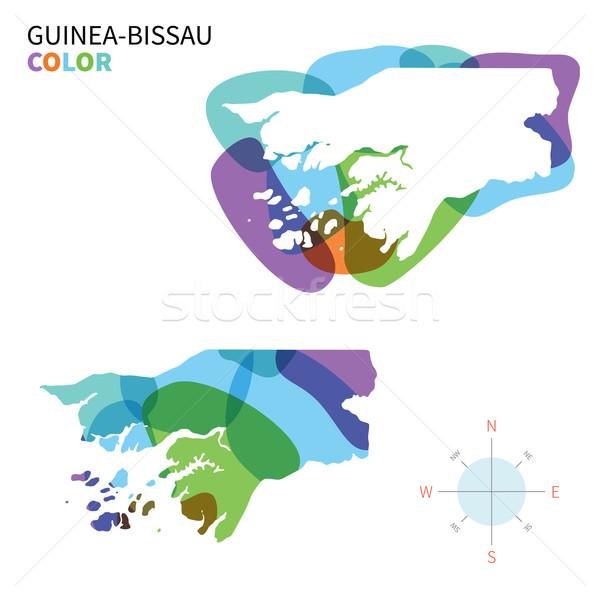 Abstract vettore colore mappa trasparente vernice Foto d'archivio © tkacchuk