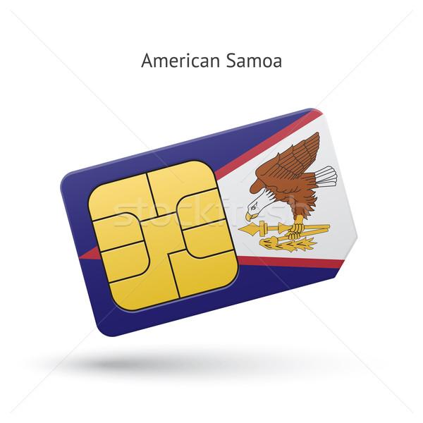 Samoa Americana telefone móvel cartão bandeira negócio projeto Foto stock © tkacchuk