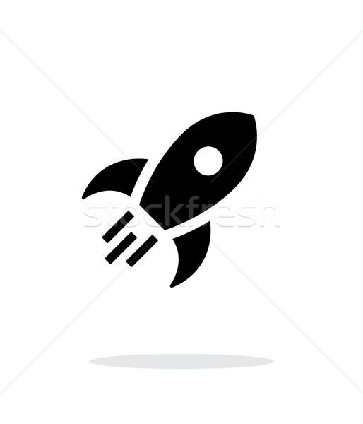 Stok fotoğraf: Roket · basit · ikon · beyaz · teknoloji · gemi