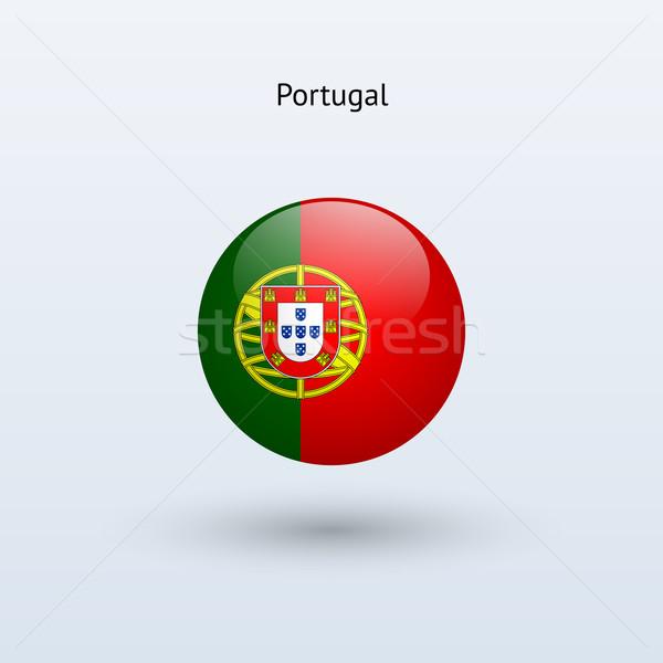 Portugal bandeira cinza assinar teia viajar Foto stock © tkacchuk