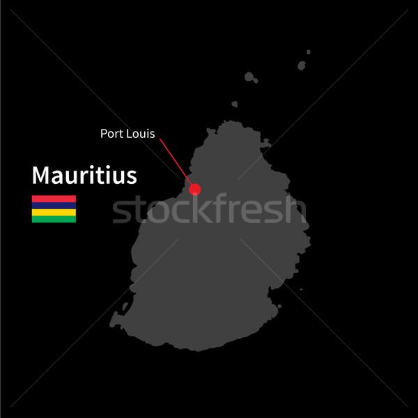 подробный карта Маврикий город порта флаг Сток-фото © tkacchuk