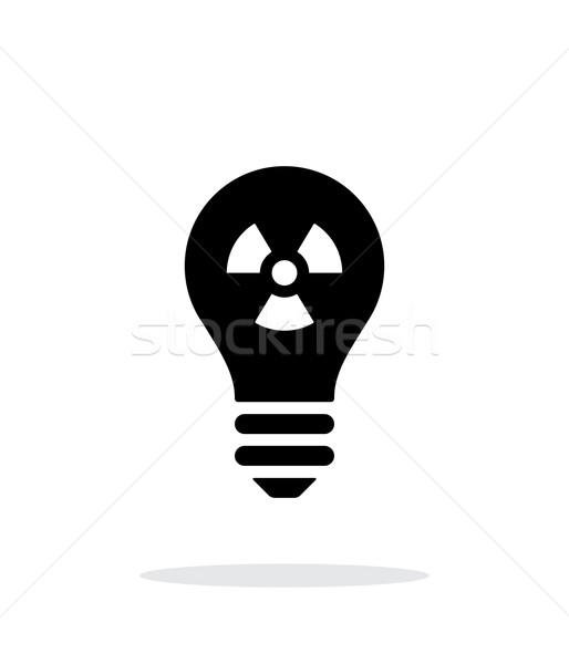 Atomi fény ikon fehér felirat terv Stock fotó © tkacchuk