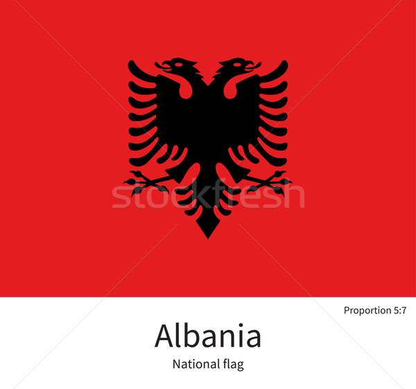 National flag of Albania with correct proportions, element, colors Stock photo © tkacchuk