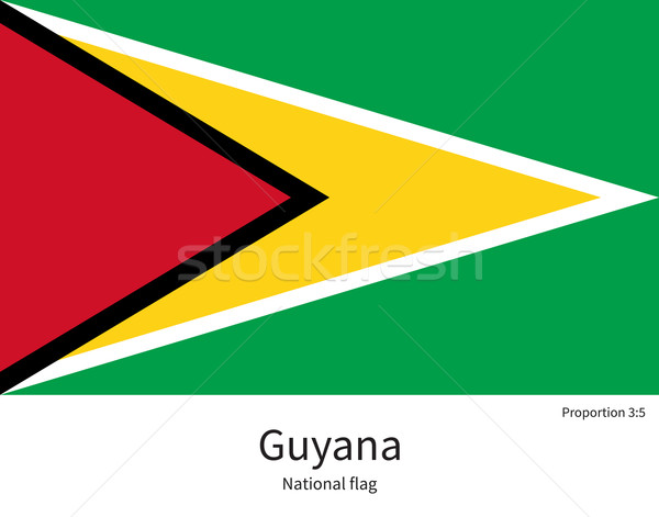 National flag of Guyana with correct proportions, element, colors Stock photo © tkacchuk