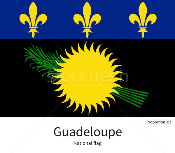 National flag of Guadeloupe with correct proportions, element, colors Stock photo © tkacchuk