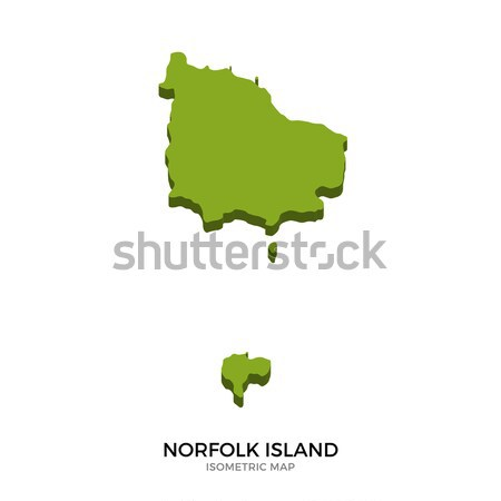 Isometric map of Norfolk Island detailed vector illustration Stock photo © tkacchuk