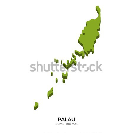 Isometric map of Palau detailed vector illustration Stock photo © tkacchuk