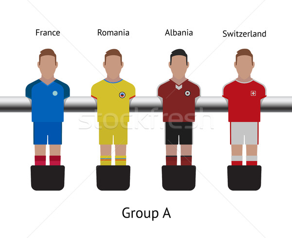 таблице футболист набор Франция Сток-фото © tkacchuk