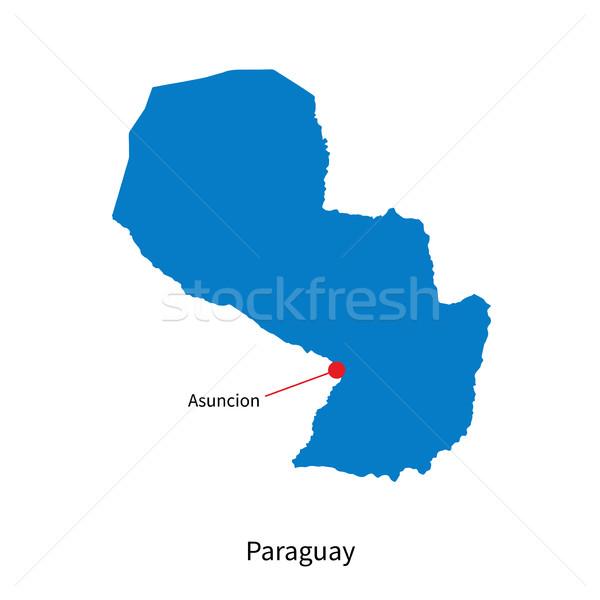 Detalhado vetor mapa Paraguai cidade educação Foto stock © tkacchuk