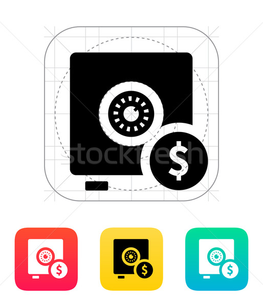 Strongbox with dollar sign icon. Stock photo © tkacchuk
