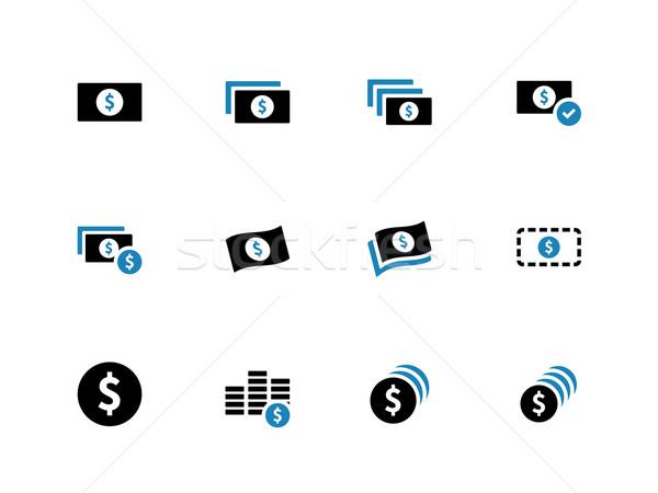 Dollar Banknote duotone icons on white background. Stock photo © tkacchuk