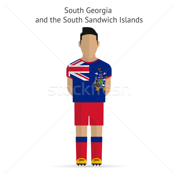 юг Грузия сэндвич футболист Футбол Сток-фото © tkacchuk