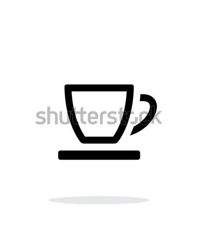 üres teáscsésze ikon fehér otthon étterem Stock fotó © tkacchuk