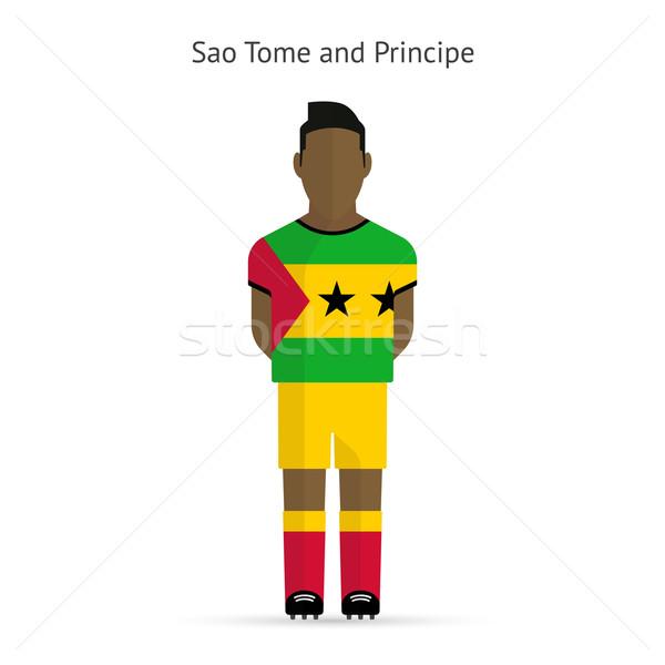 Sao Tome and Principe football player. Soccer uniform. Stock photo © tkacchuk