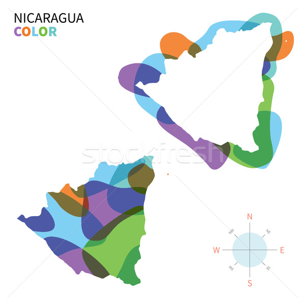 Abstrato vetor cor mapa Nicarágua transparente Foto stock © tkacchuk
